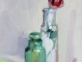 Rose and Green Bottle